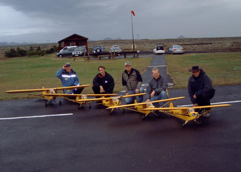 Piper Cub flugkoma 2009, mynd Eysteinn H. Sigursteinsson © 2009