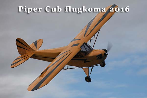 Piper Cub flugkoma 2016