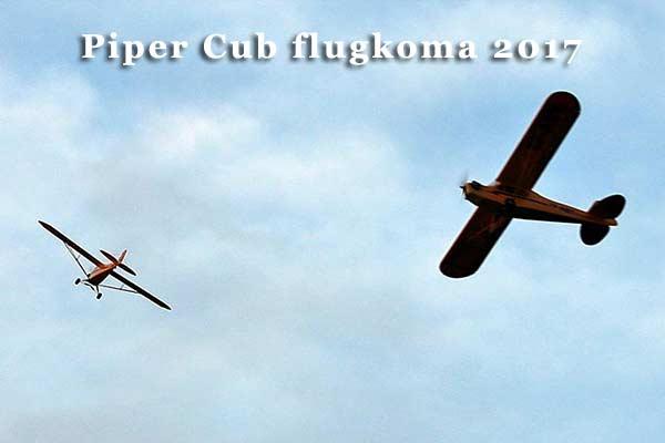 Piper Cub flugkoma 2017
